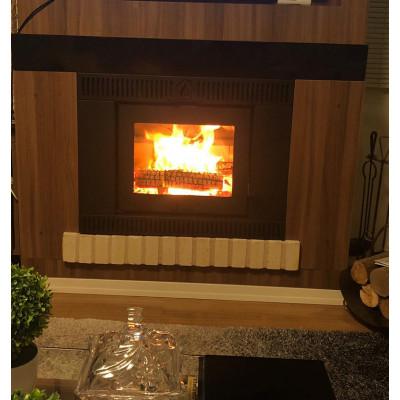 Calefator Bariloche Embutir Dupla Combustão + Convecção + ventilação forçada p/ aquecimento de até 140 m²  - versão 2020/2021