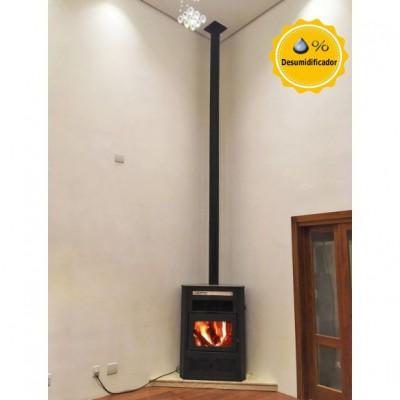 Calefator Gold Canto Dupla Combustão p/ aquecimento de até 250m² + Ventilação forçada + Serpentina p/ boiler 600L - versão 2021