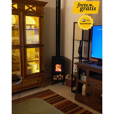 Calefator Gold Style Dupla Combustão para Aquecimento de até 50 m²